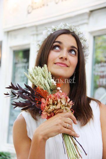 Ramo de hortensia preservada
