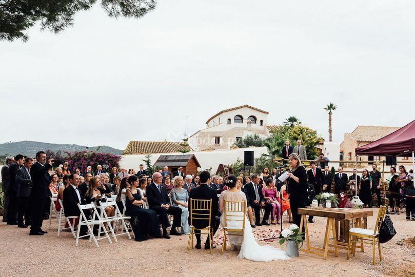 Zona boda exterior y casa