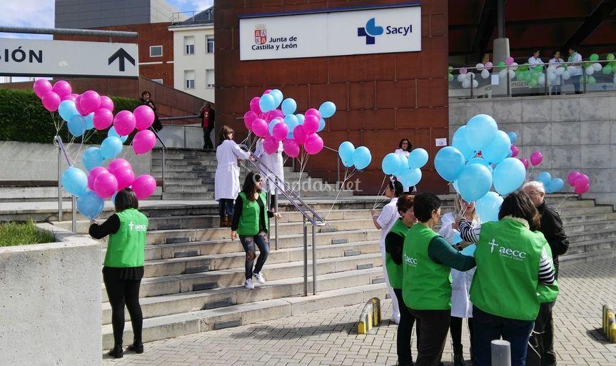 Sueltas de globos solidarias
