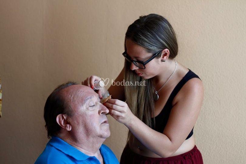 Maquillando a Fernando Esteso