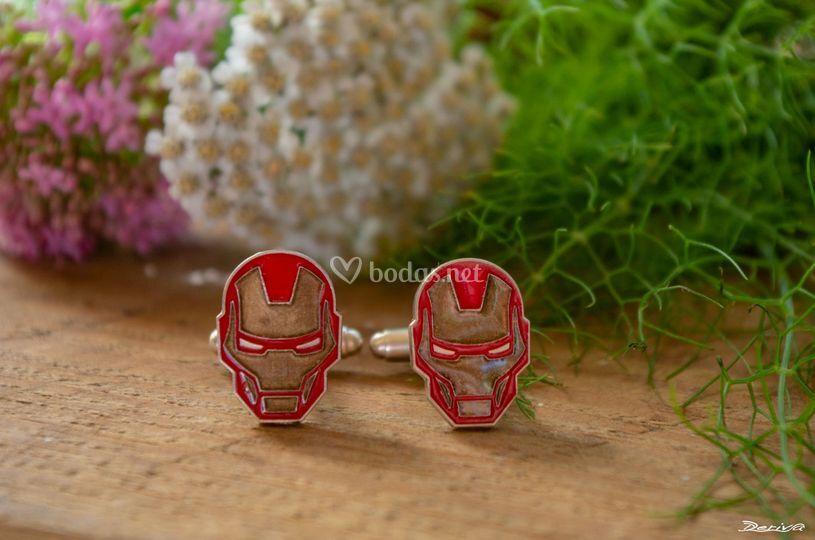 Gemelos plata Iron Man