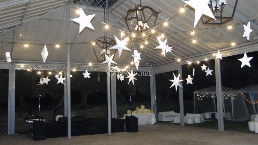 Iluminación techo con estrella