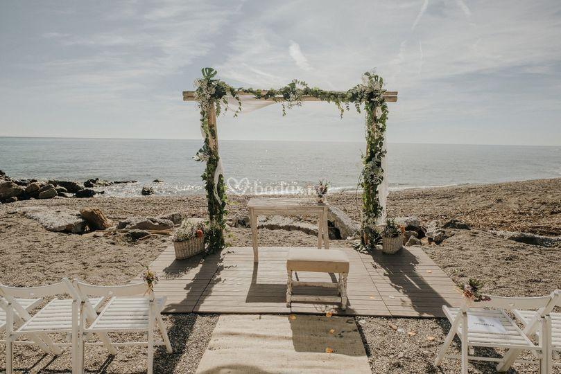 Ceremonia legal en la playa