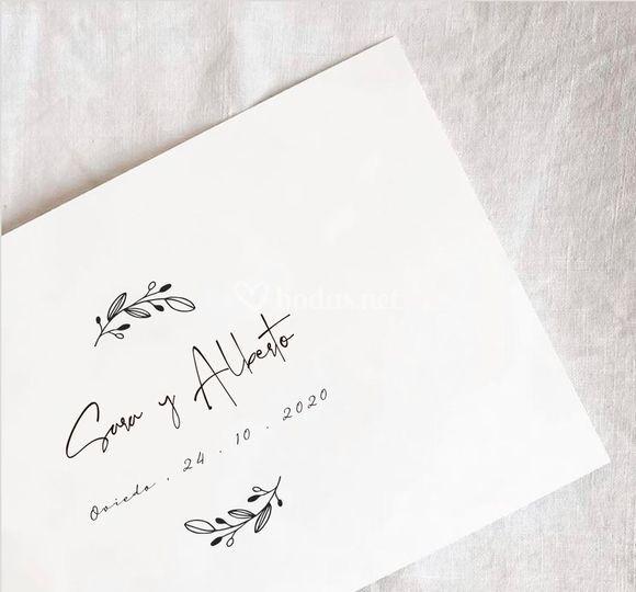 Logo de boda
