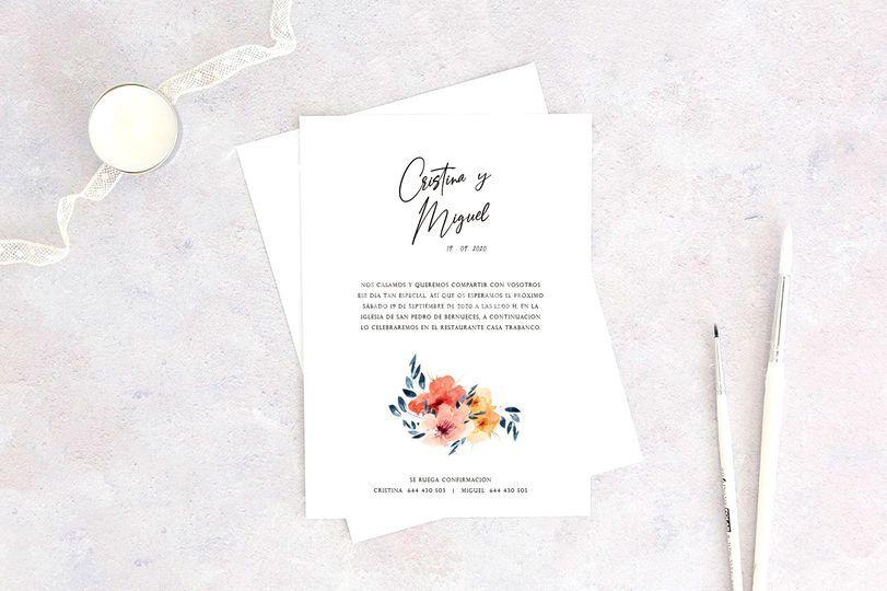 Invitación de boda - Mimi 02