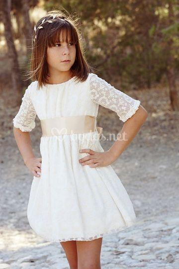 Vestido Grace de tul bordado en seda