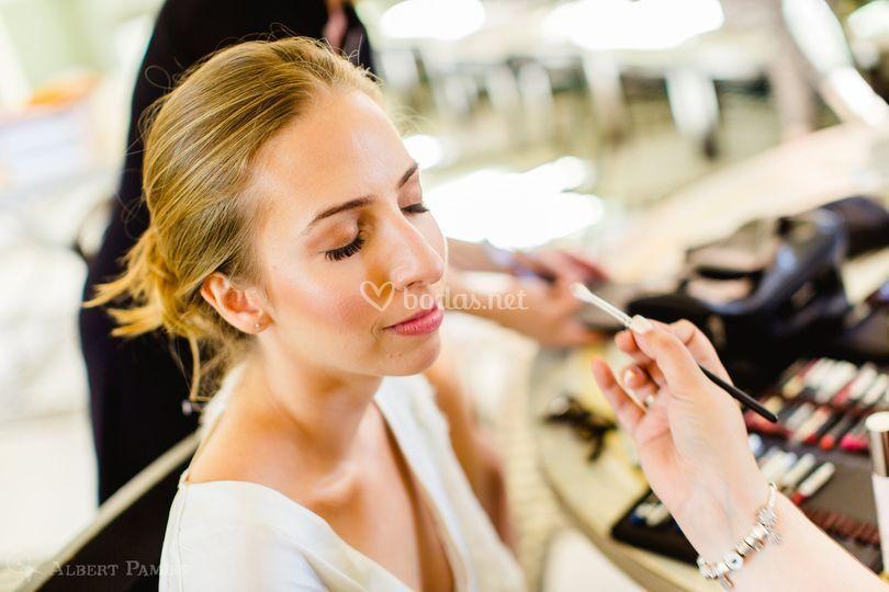 boda Elif proceso maquillaje