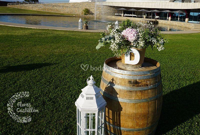 Flores y decoración banquete