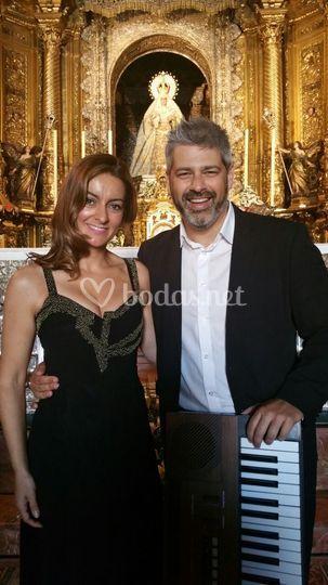Con la soprano Fátima Romero