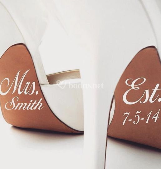 Vinilo zapato novia