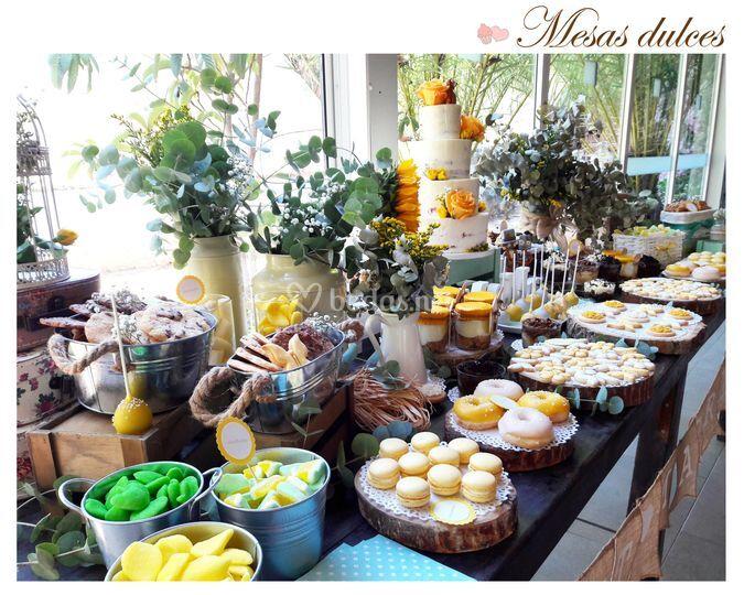 Mesa dulce boda en Montsant