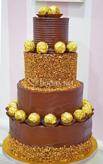Tarta boda Ferrero Rocher