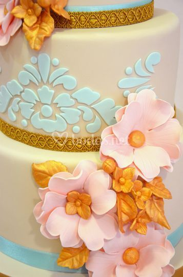 Tarta de boda anémonas