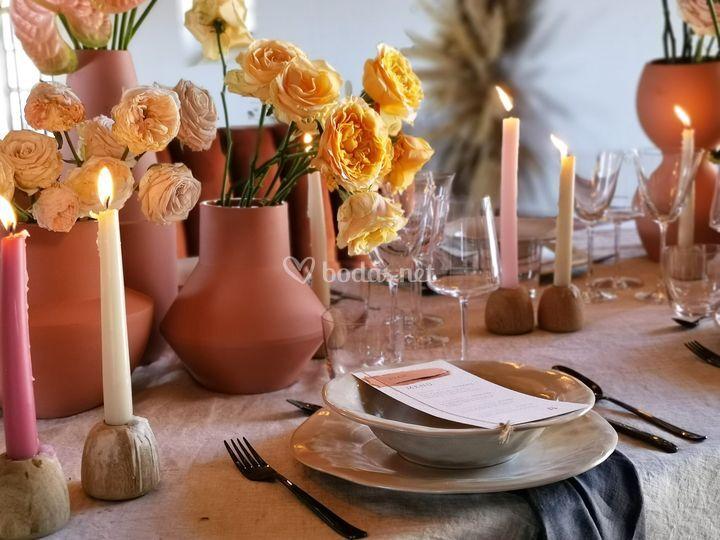 Minutas, decoración de mesa