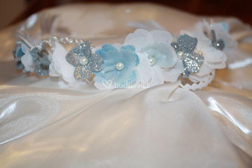 Coronas de flores de tela