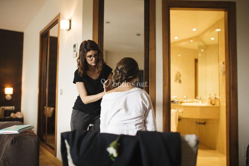 Maquillaje y peinado Tamara