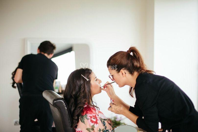 Maquillaje y peinado Leticia