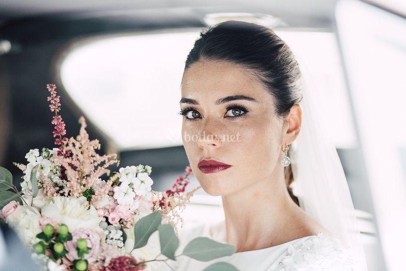 La novia en el coche