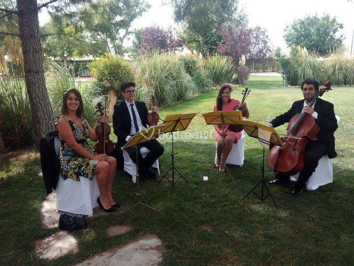 Músicos e invitados a la vez