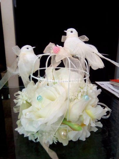 Jaula para anillos de boda