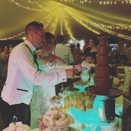 Boda fuente chocolate