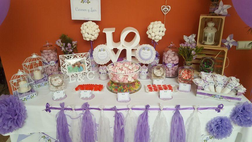 Fotos de mesas de chuches para bodas boda - Mesa de chuches para bautizo ...