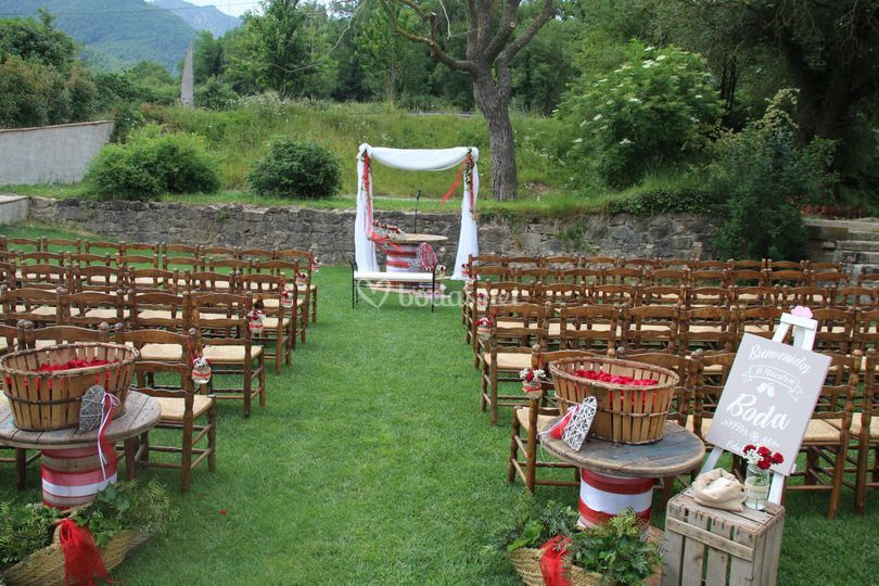 Ceremonia silla jardin