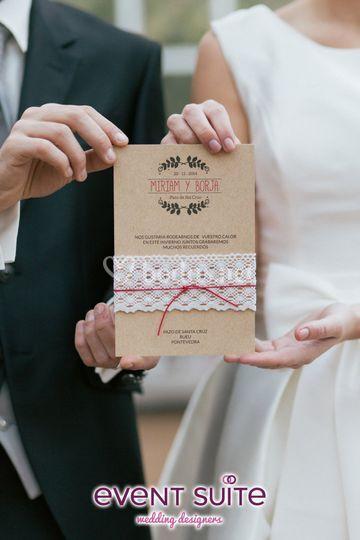 Invitación de la boda