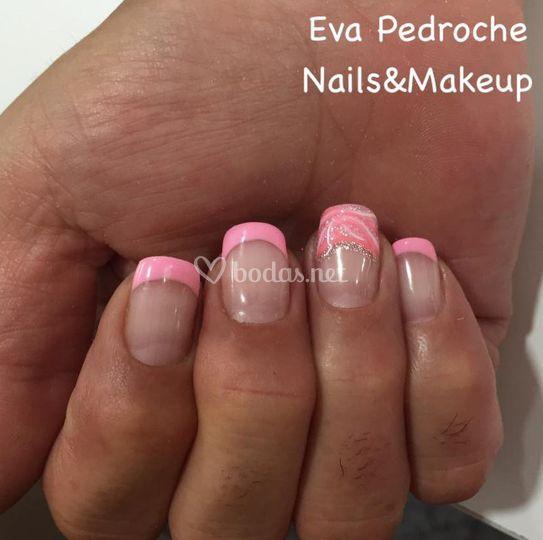 Con tonos rosados