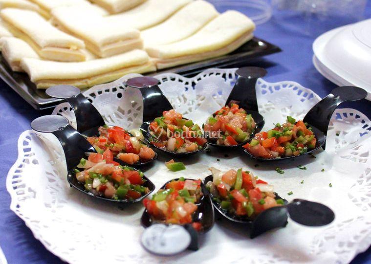 Cucharita de salmón