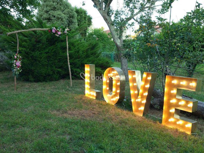 Love luminoso de 1 m