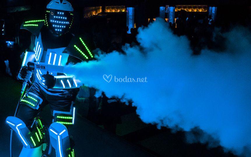 Robot zancudo led