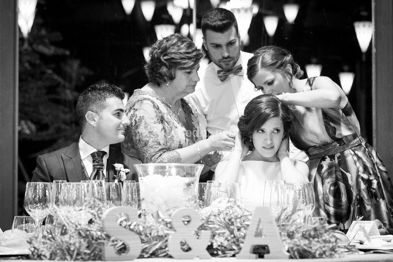Momentos durante el banquete