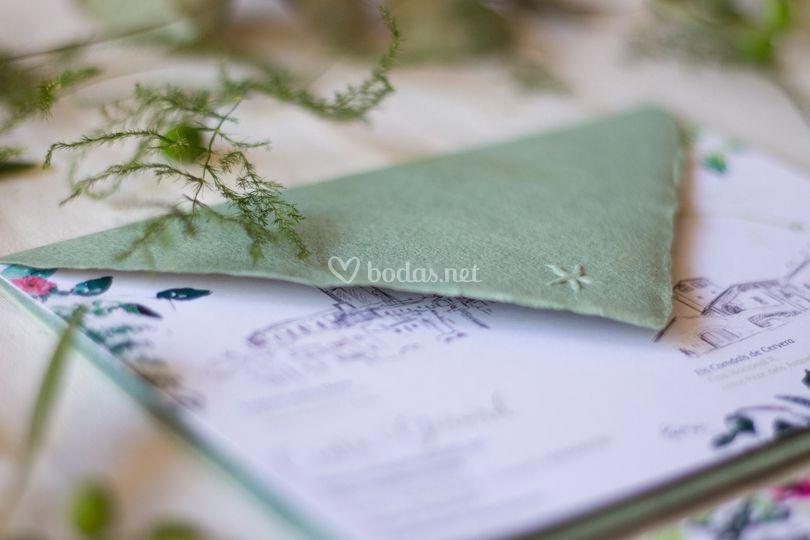 Invitación y papelería