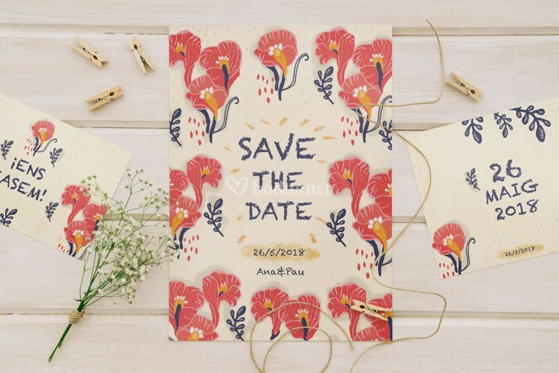 Save the date papeleria