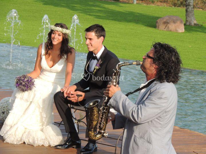 En ceremonia