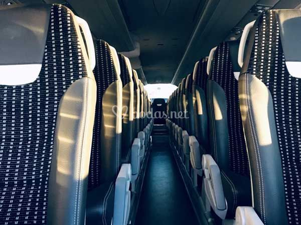 Interior del autocar