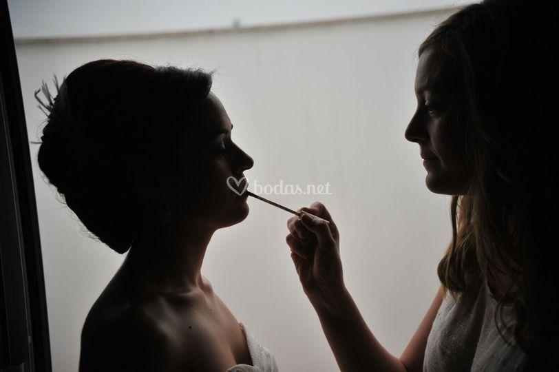 Retoques del maquillaje