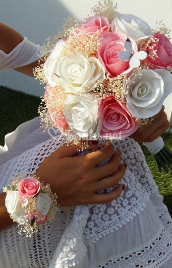 Rosas dulce pastel