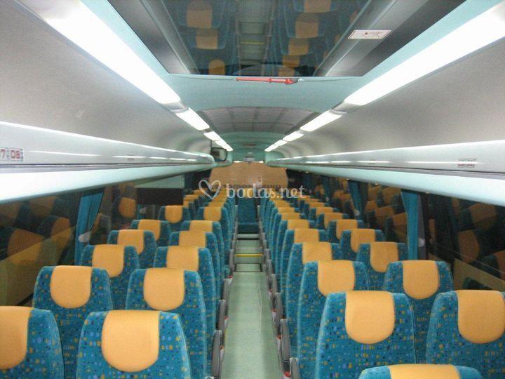 Interior del autocar estándar