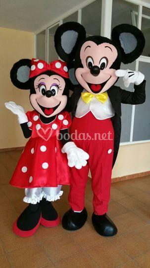 Mickey y Minnie