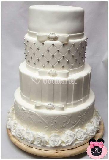 Tarta de boda elegante