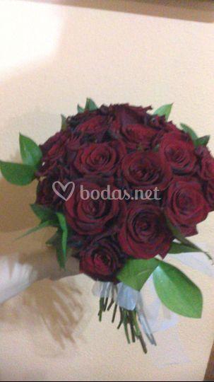 Ramo novia rosas rojas