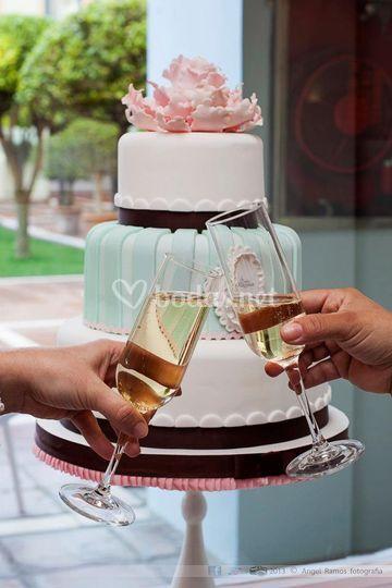 Tarta de bodas clásica