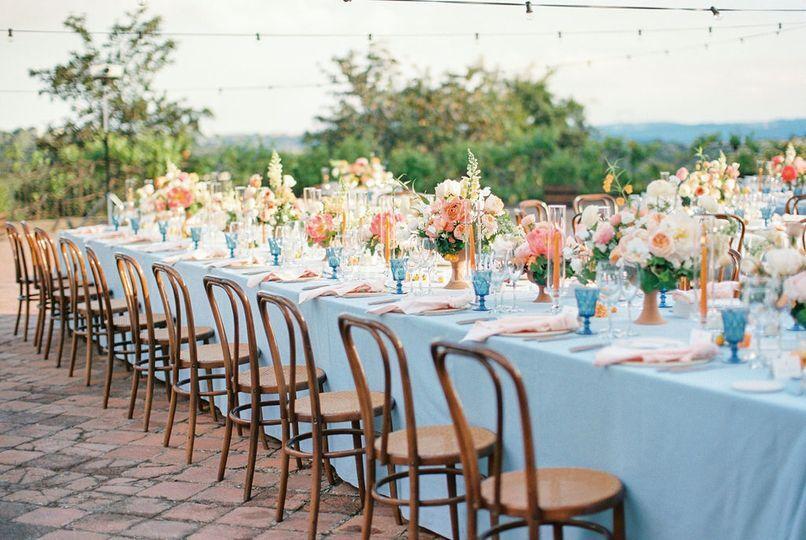 Decoración floral de banquete