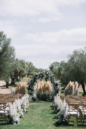 Decoración floral de ceremonia