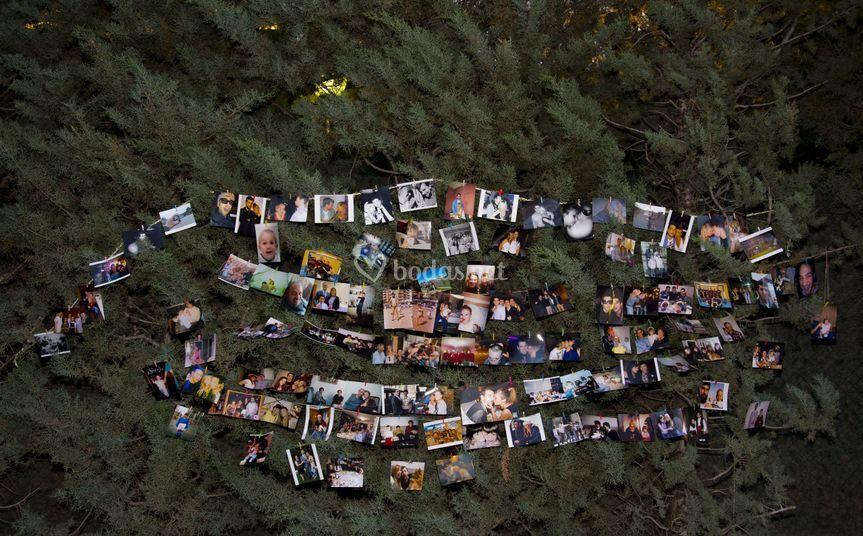 Rincón de fotos de recuerdos