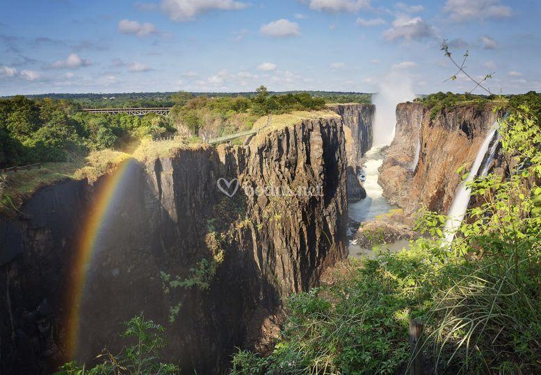 Cataratas de Victoria en Zambia