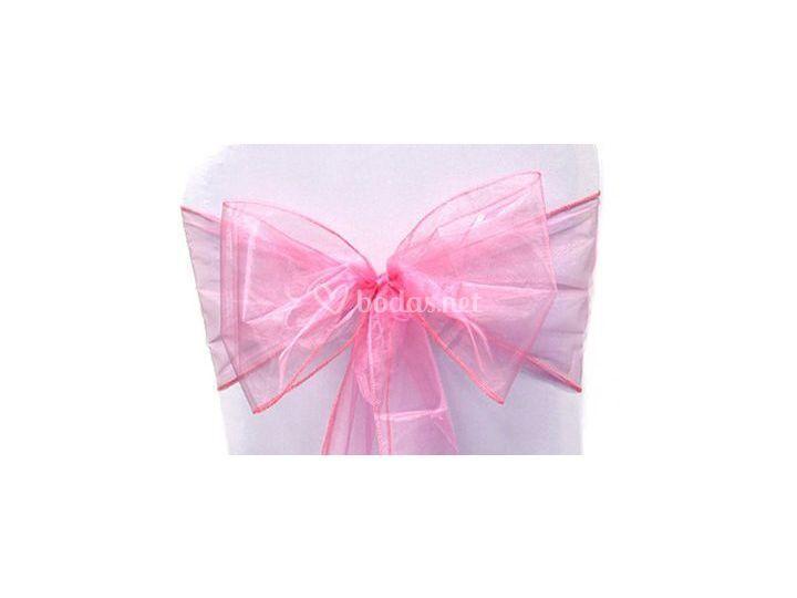 Nudos organza rosa
