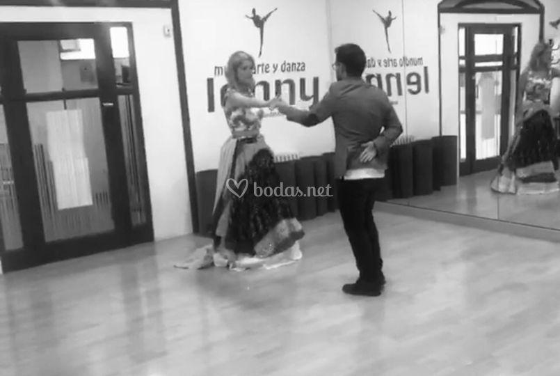 Preparando el baile